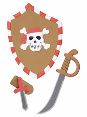 Boys Pirate Sword & Shield Set