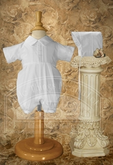 CLEARANCE - Boys Polycotton Romper with Pin Tucking
