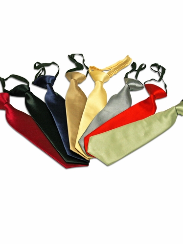 Boys Solid Pretied Neck Tie