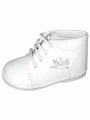 Boys White Cross Embroidered Boot