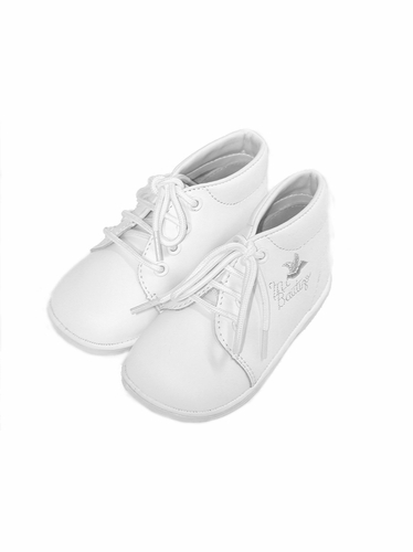 Boys White ''Mi Bautizo'' Embroidered Boot