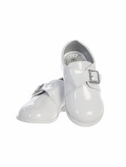 Boys White Patent Shoes w/ Velcro