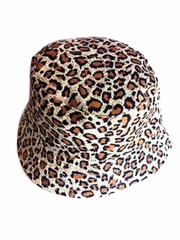 Brown Leopard Sun Hat