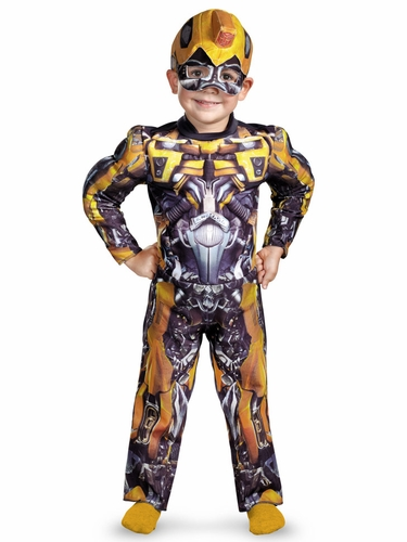 Bumblebee Toddler Muscle Boys Costume