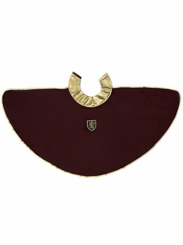Burgundy/Gold Chainmail Cape