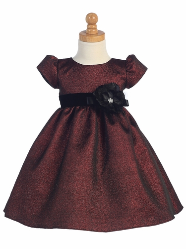 Burgundy Jacquard Dress