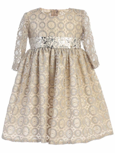 Swea Pea & Lilli C513 Lace Dress w/ Sequined Waistband