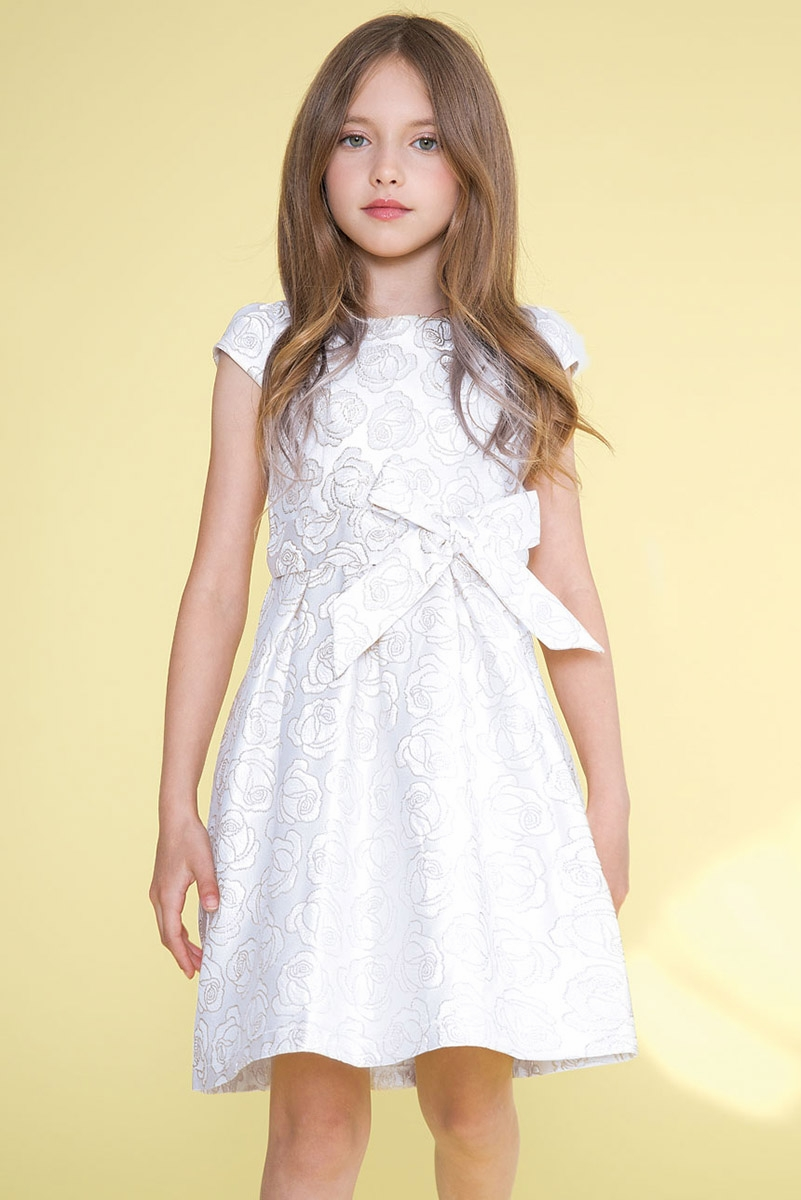 38af8287bb4 Calla Collection D1100 Silver Woven Rose Dress