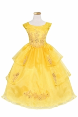 Calla Collection D761 Yellow Bell Dress