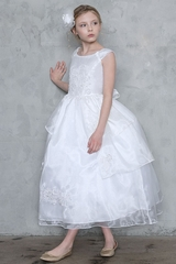 Calla D761 White Bell Dress