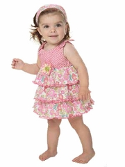 Candy Bean Spring Bloom Print Mix Baby Dress