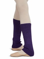 "Capezio 12"" Child Purple Metallic Sheen Legwarmers"