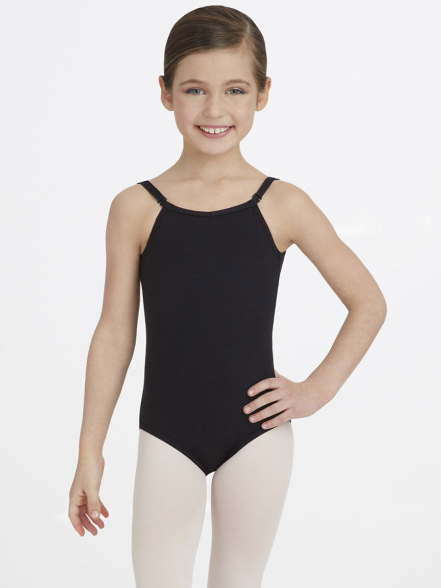 d45a4bb5f Capezio Child Black Camisole Leotard with Adjustable Straps