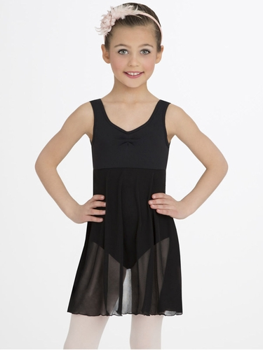 Capezio Child Black Empire Dress
