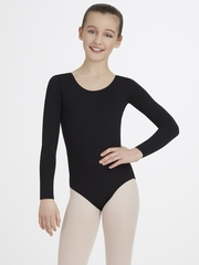 Capezio Child Black Long Sleeve Leotard