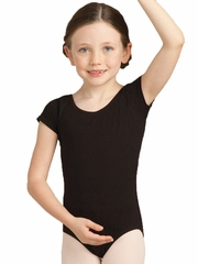 Capezio Child Black Short Sleeve Leotard