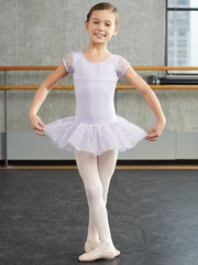 Capezio Child Lavender Butterfly Cap Sleeve Tutu Dress