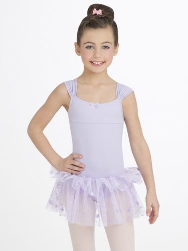 Capezio Child Lavender Ruched Strap Dress