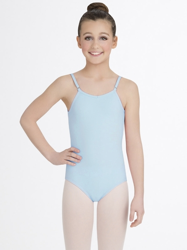 Capezio Child Light Blue Camisole Leotard with Adjustable Straps