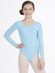 Capezio Child Light Blue Long Sleeve Leotard