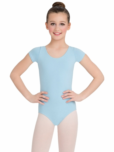 Capezio Child Light Blue Short Sleeve Leotard