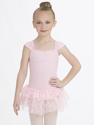 Capezio Child Pink Ruched Strap Dress