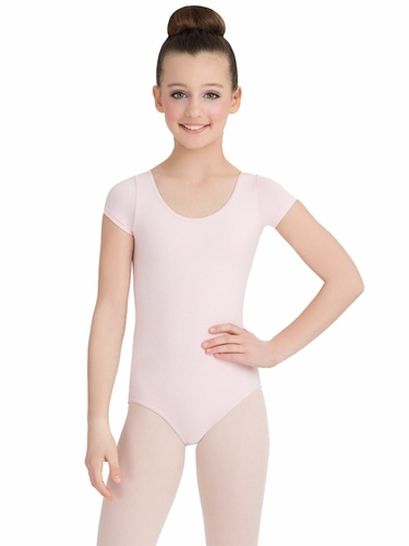 Capezio Child Pink Short Sleeve Leotard