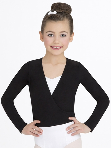 Capezio Child's Black Wrap Top