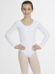Capezio Child White Long Sleeve Leotard