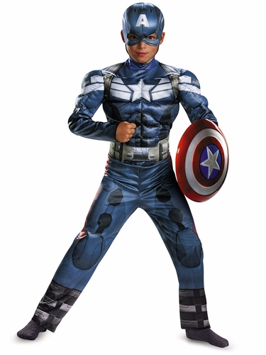 Captain America Movie 2 Classic Muscle Costume