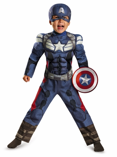 Captain America Movie 2 Toddler Muscle Costume
