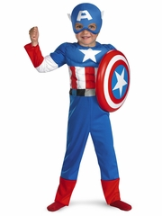 Captain America Toddler Muscle Kids Costume