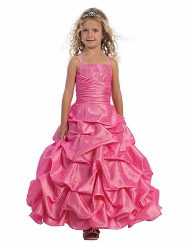 Carnation Pick-Up Style Full Length Dress w/ Matching Bolero