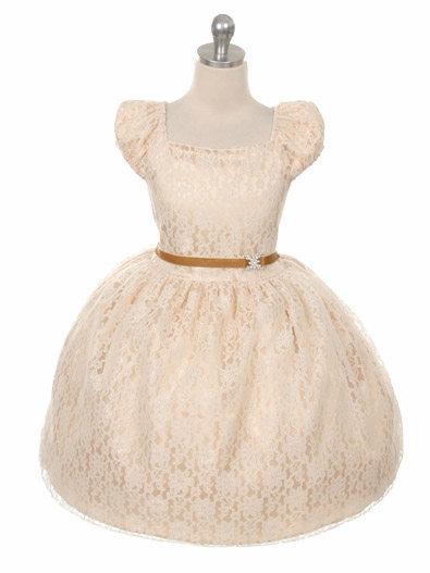 ebe0885cc03e8 ... Cap Sleeve Lace Flower Girl Dress. Click to Enlarge