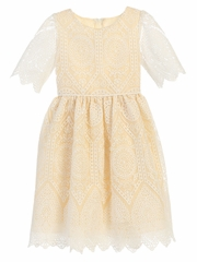 Champagne Cathedral Lace Dress