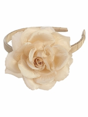 Champagne Headband w/ Large Rose