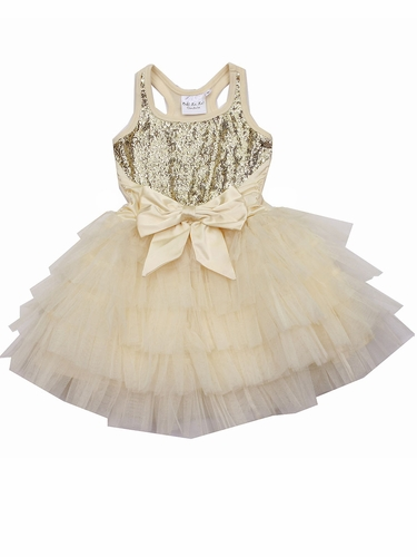 Champagne Ooh! La La! Couture WOW Anneliese Dress