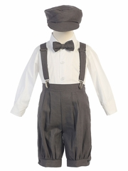 Charcoal Suspender Knickers w/ Hat