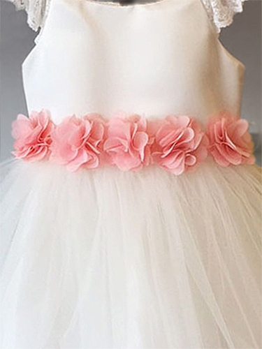 Chiffon Flower Sash - PinkPrincess.com