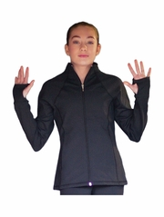 ChloeNoel Elite Black Contrast Jacket w/ Pockets & Thumb Holes