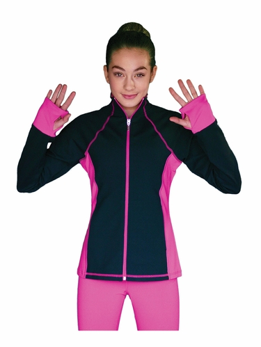 ChloeNoel Elite Fuchsia Contrast Jacket w/ Pockets & Thumb Holes