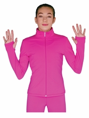 ChloeNoel Fuchsia Elite Solid Jacket w/ Thumb Holes