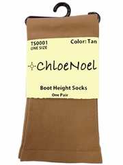 Chloe Noel TS0001 Tan Boot Height Socks
