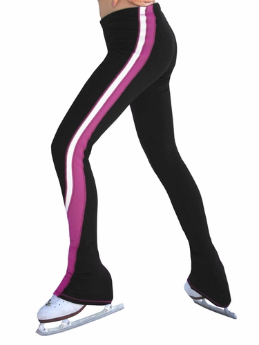 ChloeNoel 2 Tone Magenta / White Polar Fleece Pants
