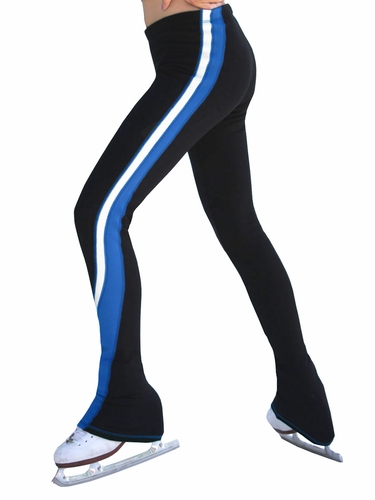 ChloeNoel 2 Tone Royal Blue / White Polar Fleece Pants