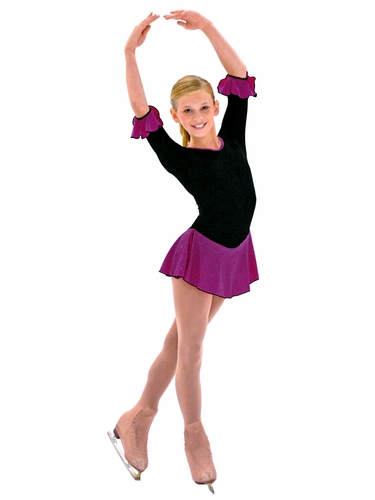 "ChloeNoel 3/4"" Sleeve Fleece w/ Plum Sparkle Dress"