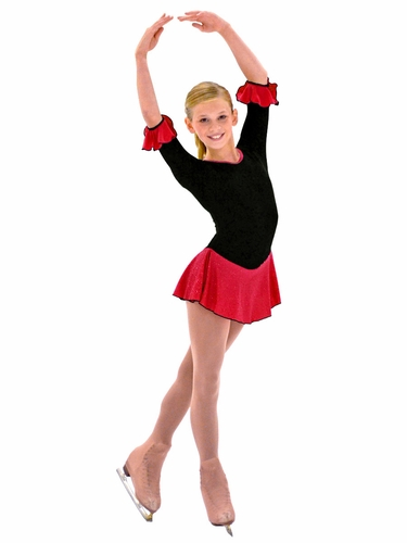 "ChloeNoel 3/4"" Sleeve Fleece w/ Red Sparkle Dress"