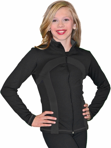 ChloeNoel Black/Black Stripe Princess Seam Jacket