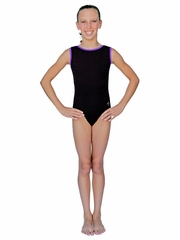 ChloeNoel Black Body w/ Purple Binding Leotard