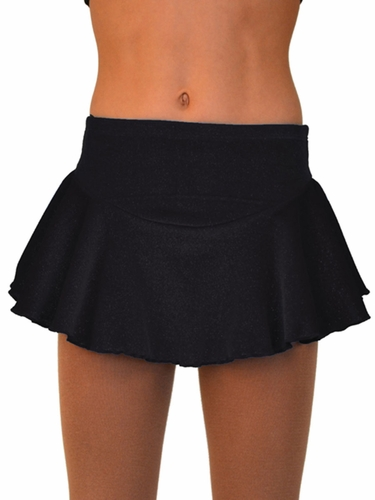 ChloeNoel Black Circle York Sparkle Velvet Skirt